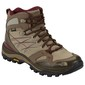 The North Face Women's Hedgehog FP GTX Mid Hiking Shoes Dune Beige & Deep Garnet Red