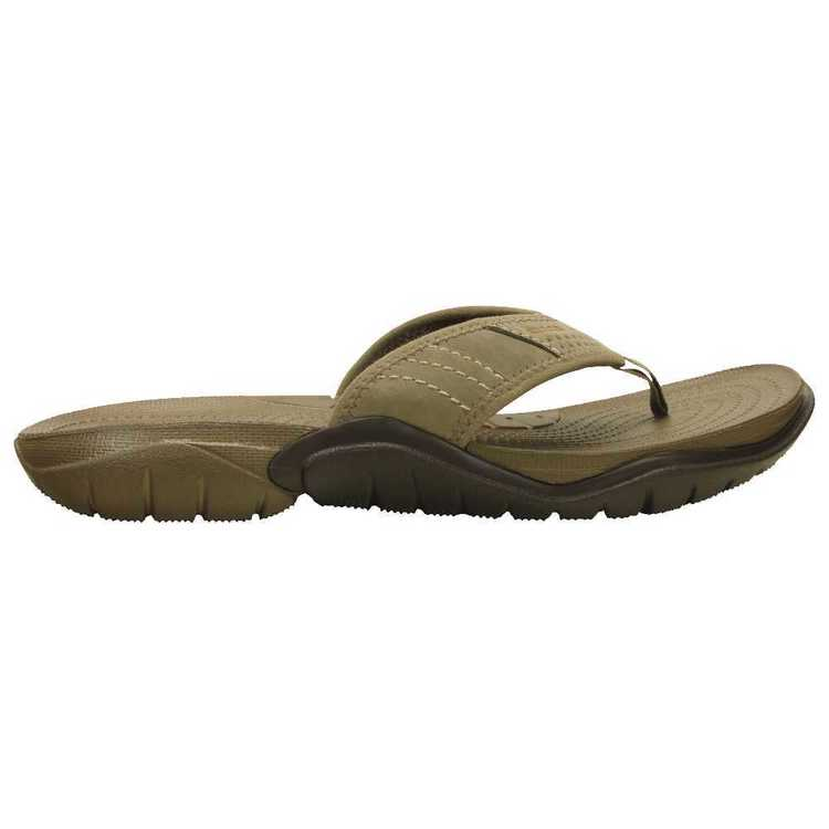 Crocs Men's Swiftwater Thongs Walnut & Espresso