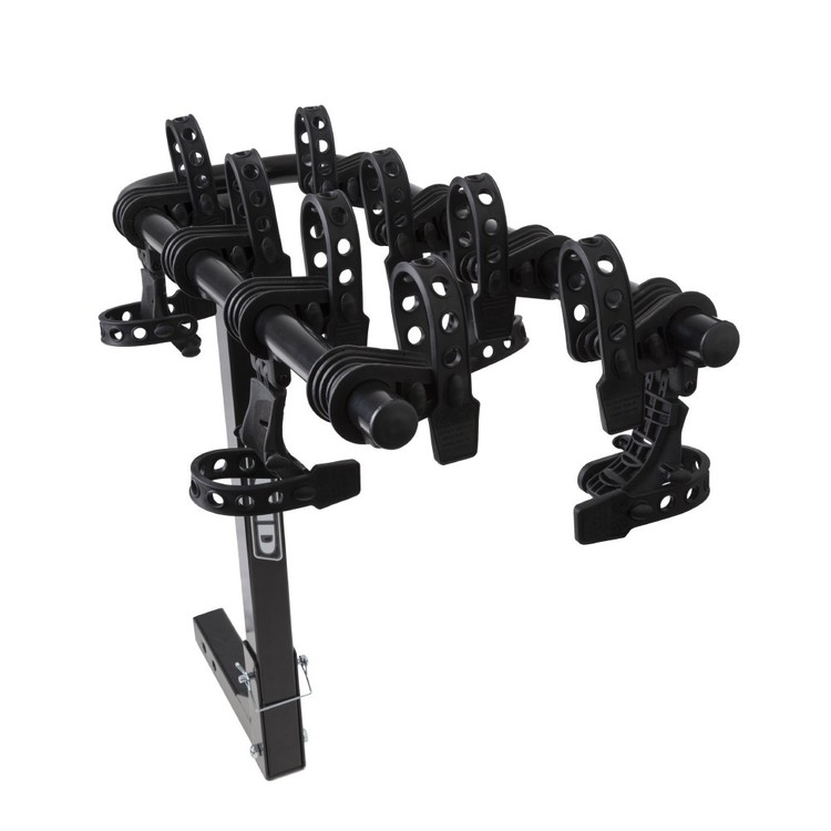 Fluid 50mm Hitch Mount 4 Bike Carrier With Anti-Sway Black