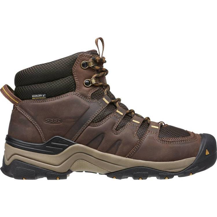 Keen Men's Gypsum II WP Mid Hiking Boots Coffee Bean & Bronze Mist