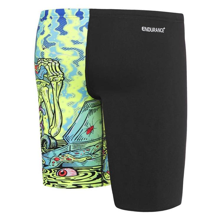 Speedo Boys Zombie Flipturns Jammer Zoom & Black