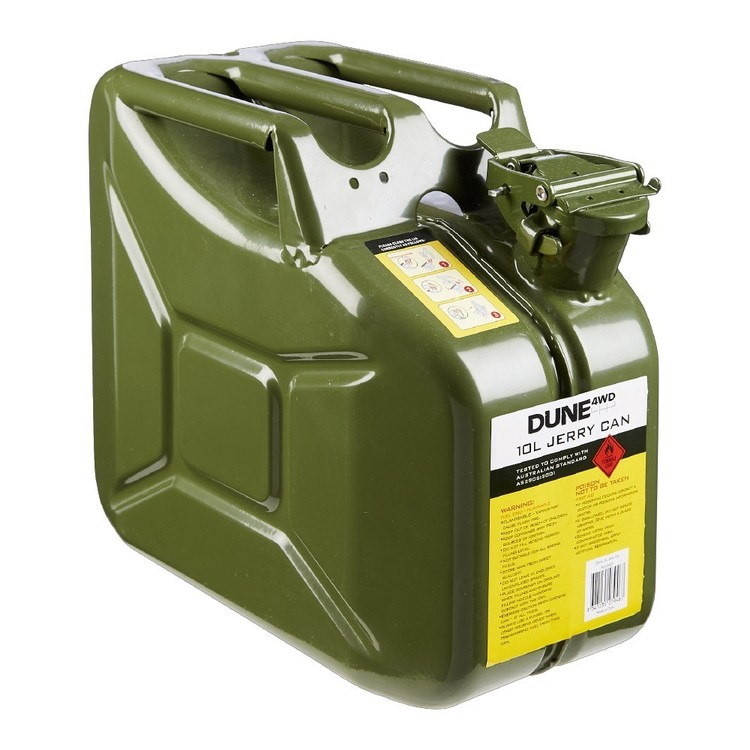 Dune 4WD 10L Green Metal Jerry Can