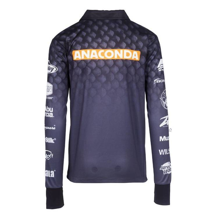 Anaconda Sublimated Polo Shirt Black