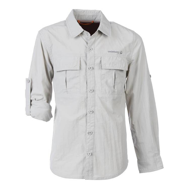 Cederberg Youth Roll Up Sleeve Shirt Stone