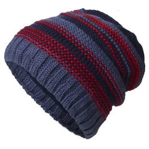 Cape Youth Heysen Textured Stripe Slouch Beanie