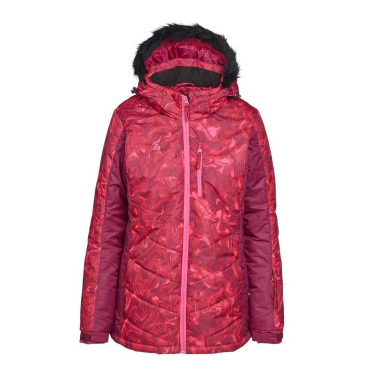 Chute Women's Sibella Snow Jacket Burgundy Print