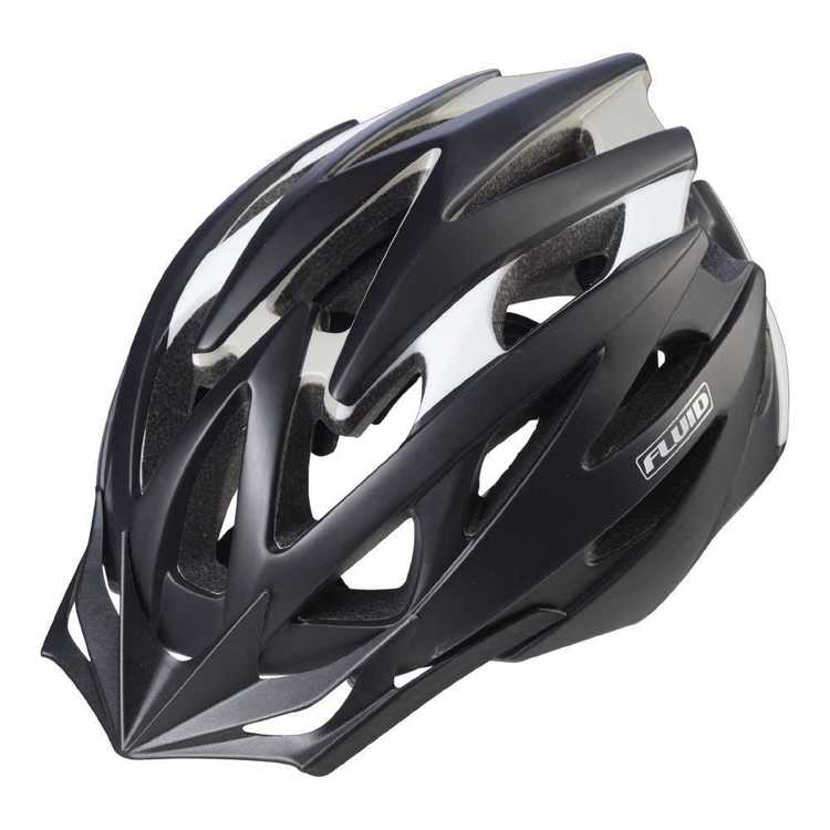 Fluid Adult's Rapid Stealth Black Bike Helmet