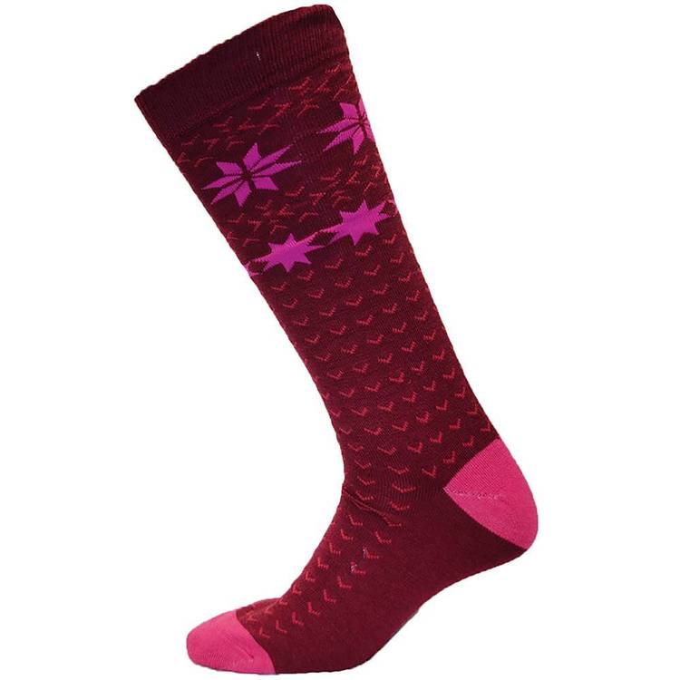 XTM Adult's Powder Socks Burgundy 2 - 8