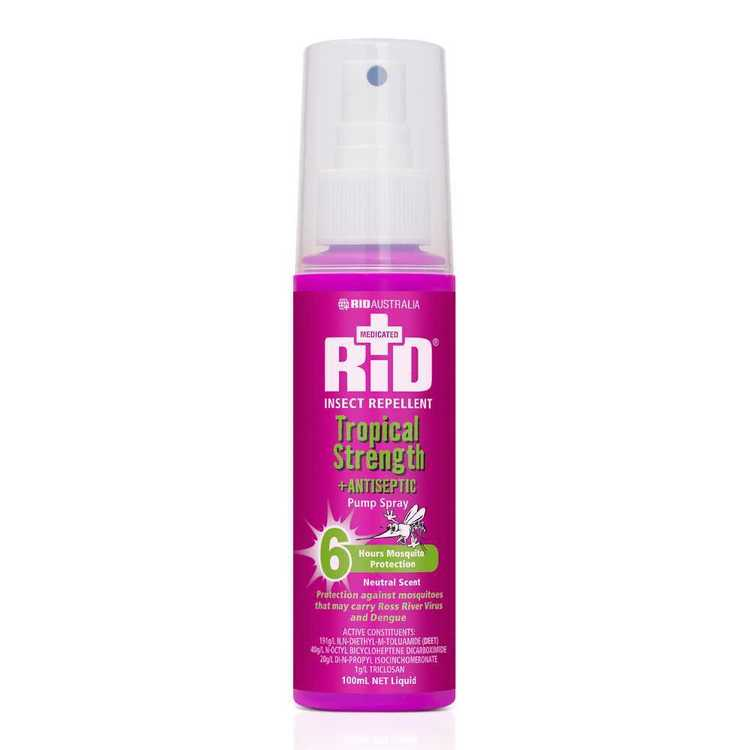 RID Insect Repellent Tropical Strength PumpSpray 100 mL