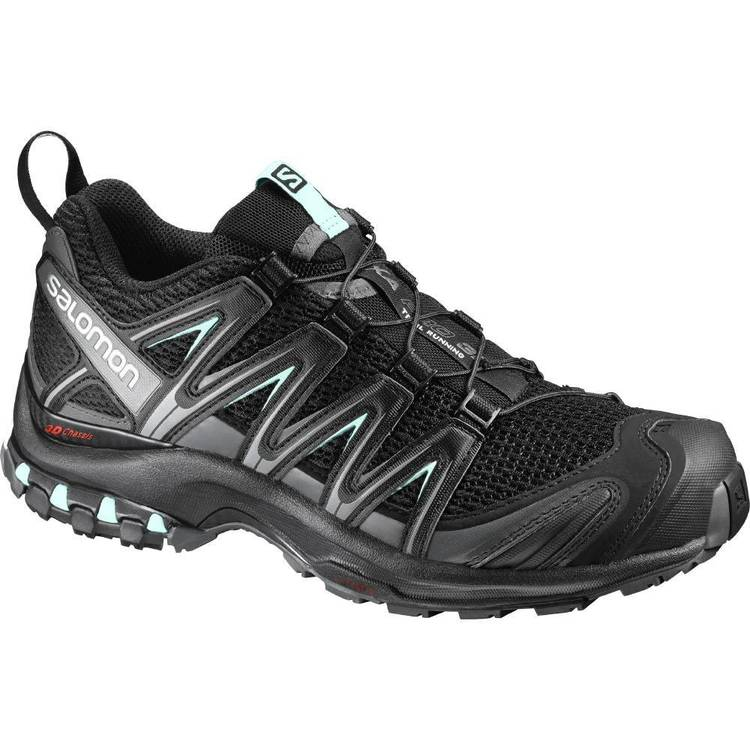 Salomon Women's XA PRO 3D Low Hiking Shoes Black, Magnet & Aqua