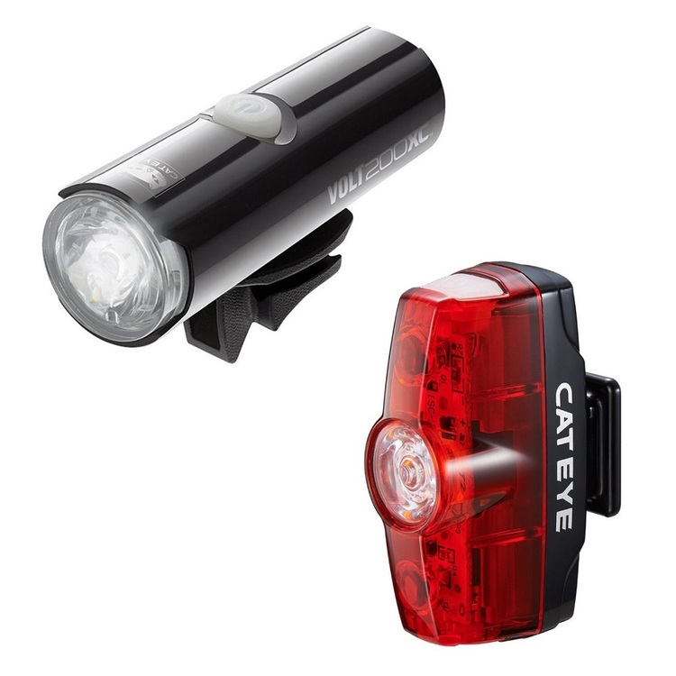Cateye 200XC/Rapid Mini Light Kit Black & Red