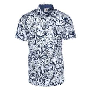 Gondwana Men's Short Sleeve Palm Leaf Printed Shirt