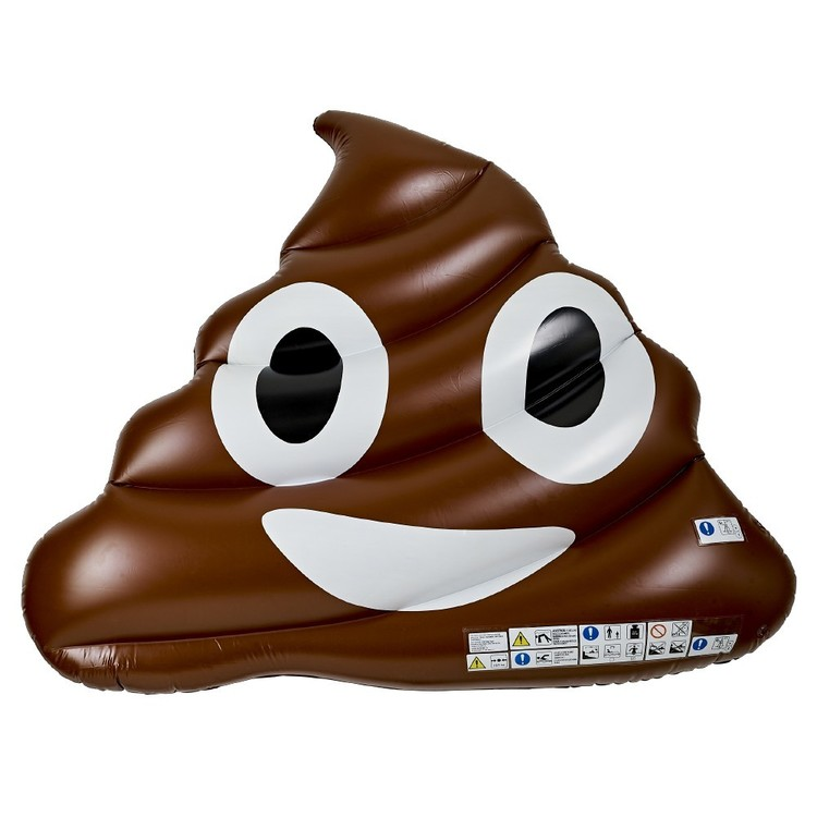 Giant Inflatable Emoji Poo Pool Float