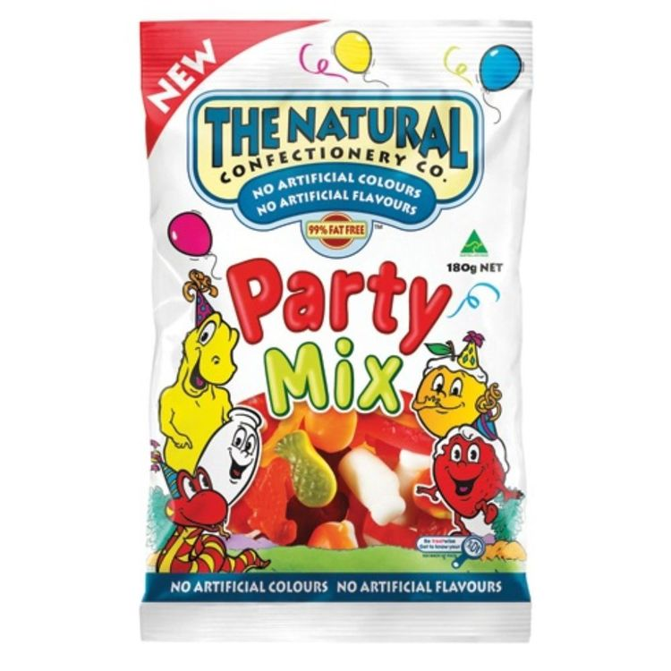 The Natural Confectionary Co. Party Mix 180 g Pack