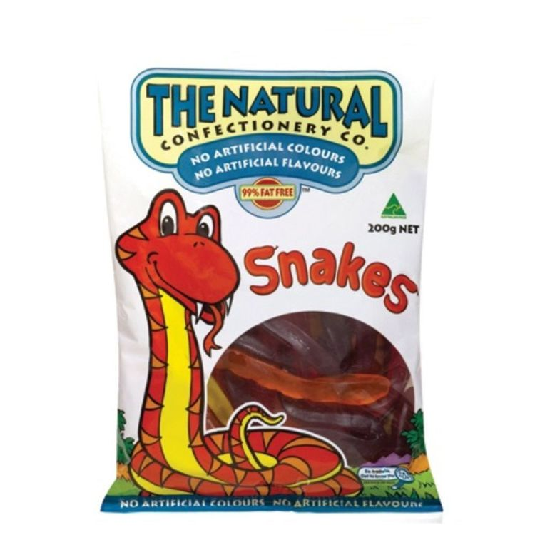 The Natural Confectionary Co. Snakes 200 g Pack