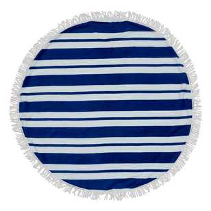 Nautical Stripe Round Beach Towel