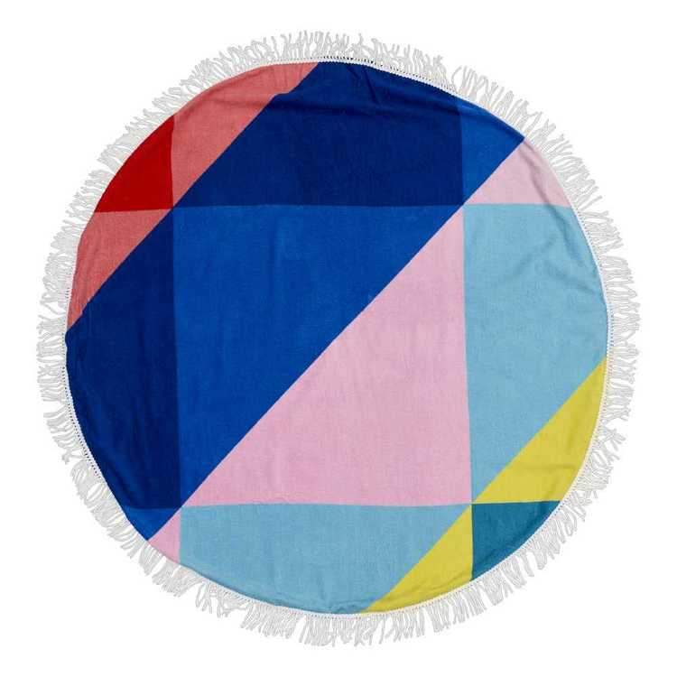 Carnival Round Beach Towel Multicoloured