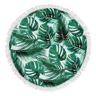 Tropics Round Beach Towel