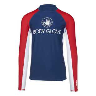 Body Glove Men's Long Sleeve Spliced Rash Vest