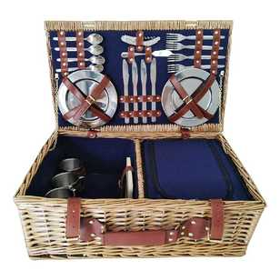 Spinifex Deluxe Wicker Picnic Basket