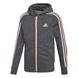 adidas Girl's Essential 3 Stripe Hoody