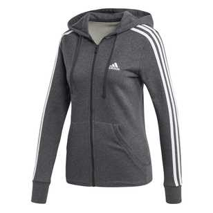 adidas Women's 3 Stripes Full Zip Hoodie