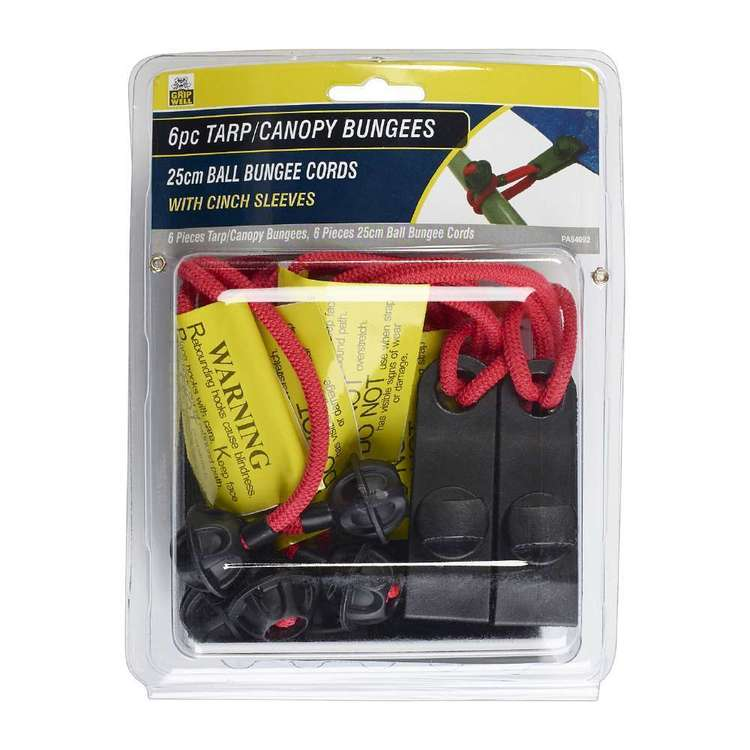 Gripwell Tarp / Canopy Ball Bungee Cord Set 6 Pack