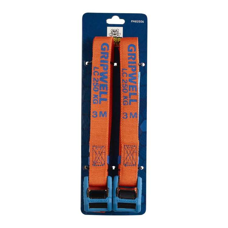 Gripwell 3 Metre / 250 kg Camlock Straps 2 Pack