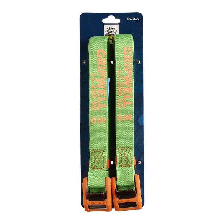 Gripwell 6 Metre / 250 kg Camlock Straps 2 Pack