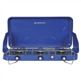 Campmaster 3 Burner LPG Stove with Drip Tray