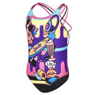 Speedo Girl's Girly Fun Triple Swimsuit