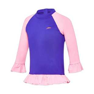 Speedo Toddler Girl's Flounce Long Sleeve Rashie