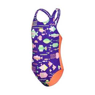 Speedo Toddler Girl's Medalist One Piece Swimsuit
