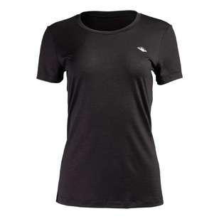 Mountain Designs Women's Banksia Merino Tee Black