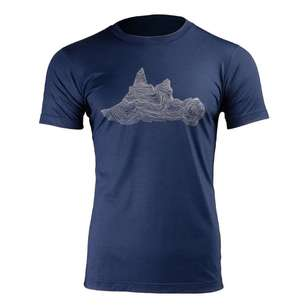 Mountain Designs Men's Banksia Merino Tee Navy