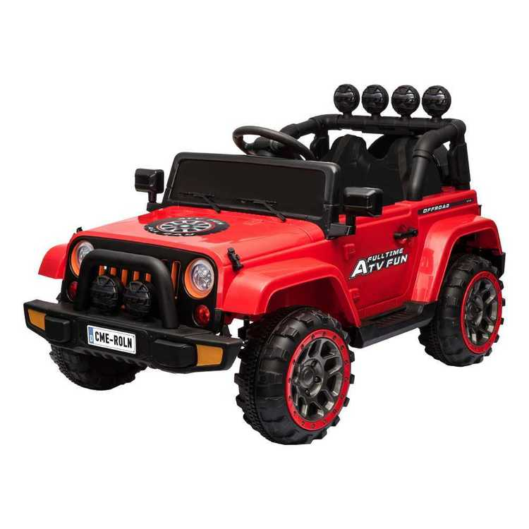 Electric 12V 4WD Adventure Car With Remote Red