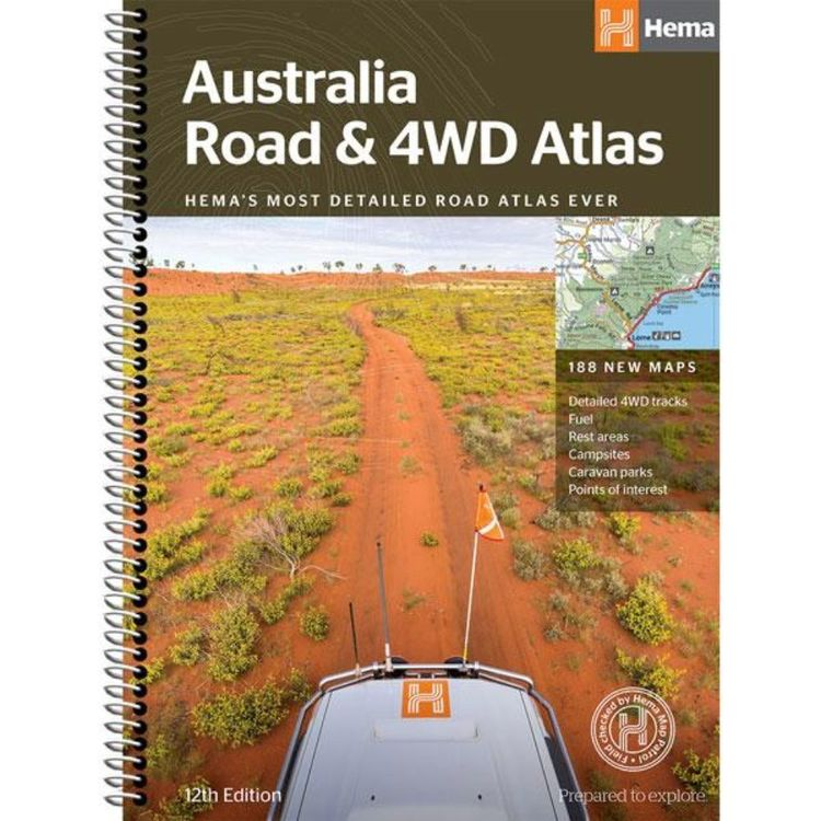 Hema Australia Road and 4WD Spiral Bound Atlas