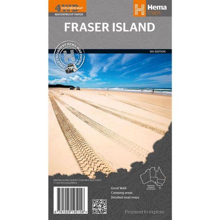 Hema Fraser Island Map