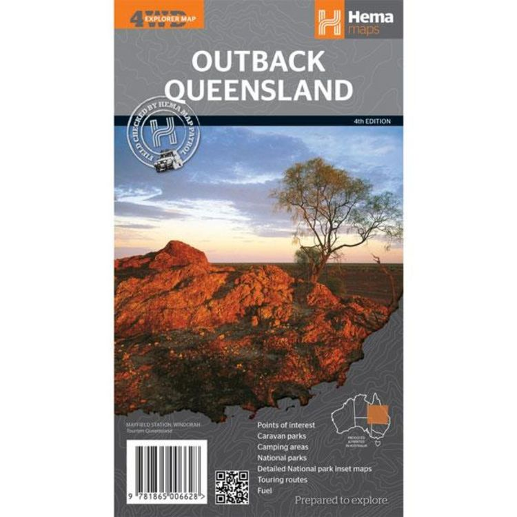 Hema Outback Queensland Map