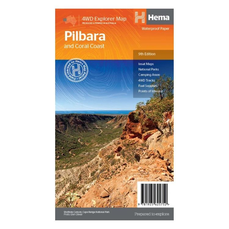 Hema Pilbara and Coral Coast Map