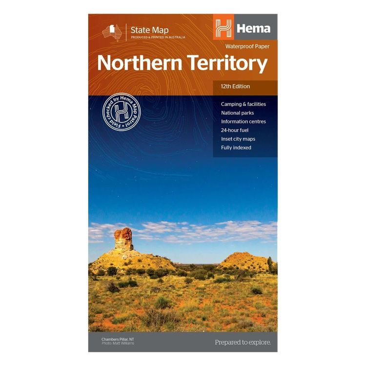 Hema Northern Territory State Map