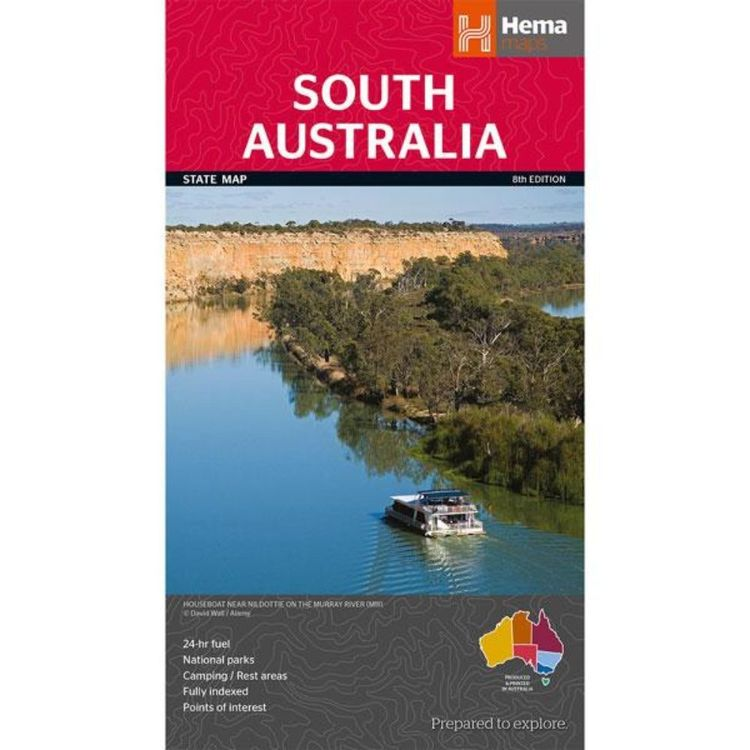 Hema South Australia State Map