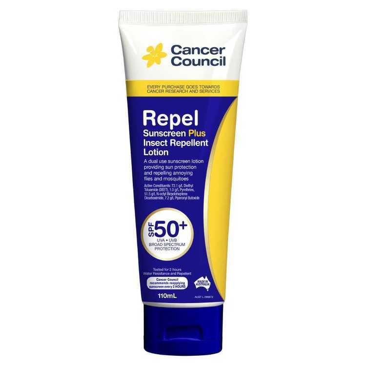 Cancer Council Repel SPF 50+ Sunscreen 110 mL