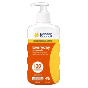 Cancer Council Everyday SPF 30 Sunscreen 200 mL
