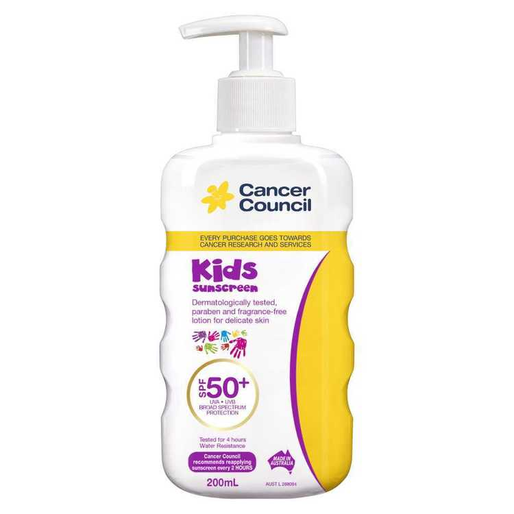 Cancer Council Kids SPF 50+ Pump Sunscreen 200 mL