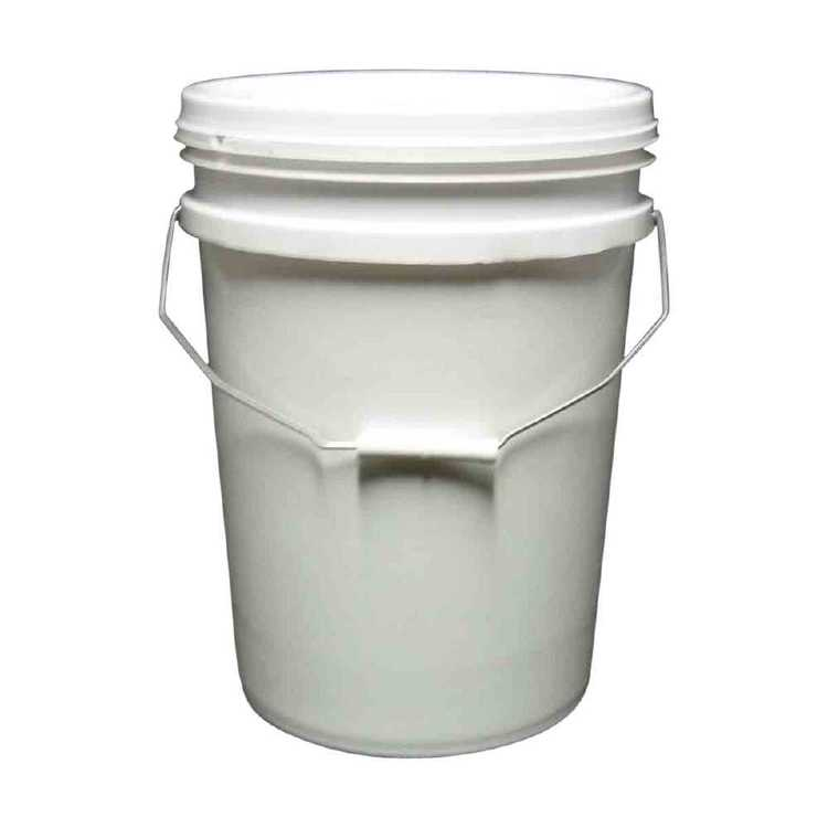 20 Litre White Bucket With Lid 20 L