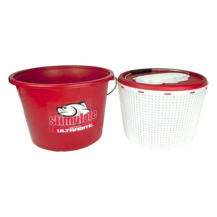 Stimulate 15L Live Bait & Burley Bucket Red 15 L