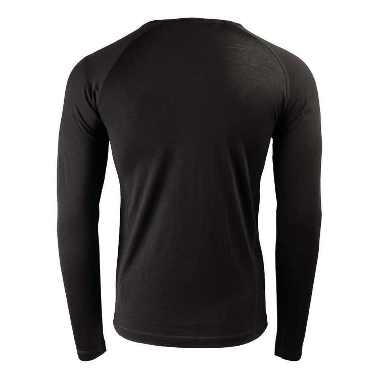 Mountain Designs Men's Merino Blend Long Sleeve Top Black