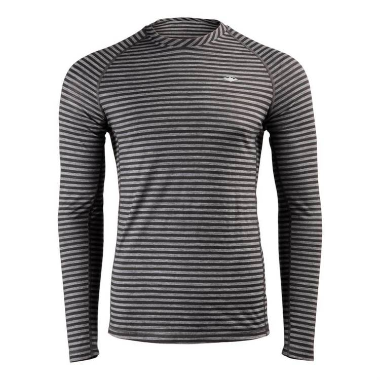 Mountain Designs Men's Merino Blend Long Sleeve Stripe Crew