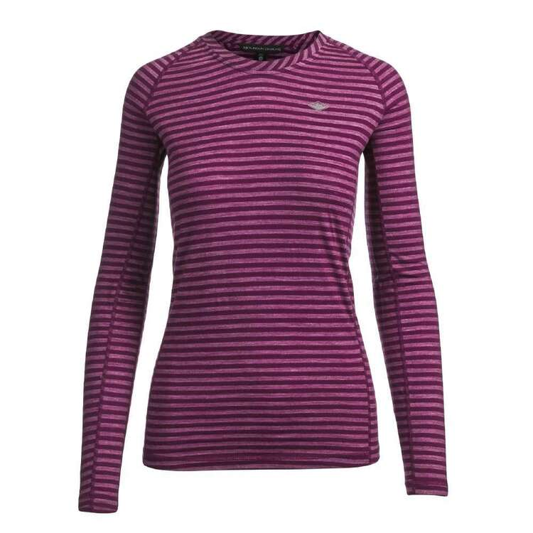 Mountain Designs Women's Merino Blend Long Sleeve Stripe Top